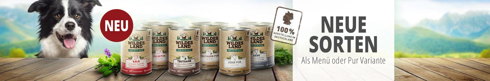 Neue Sorten Wildes Land Nassfutter für Hunde