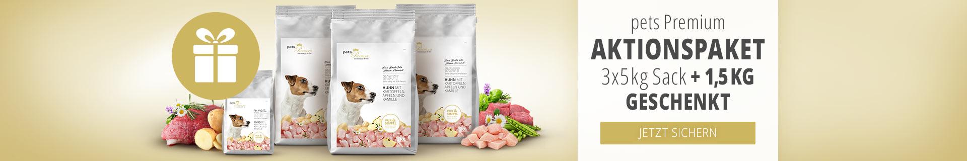 pets Premium 1,5kg Softfutter geschenkt