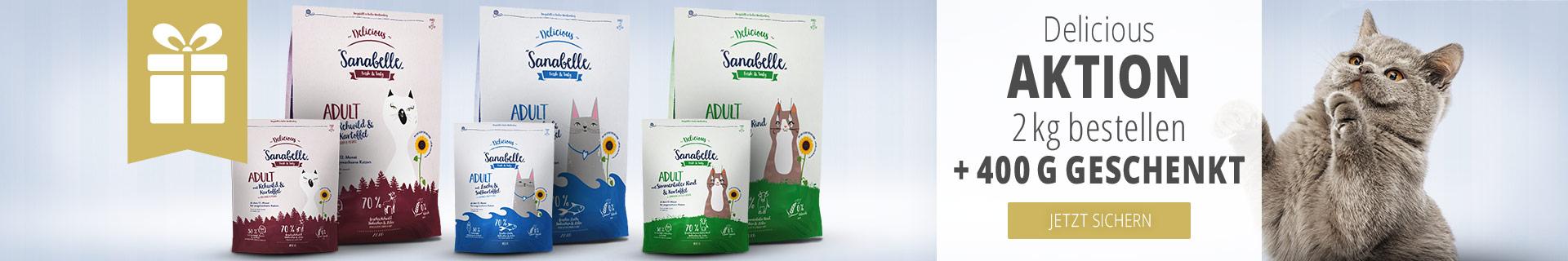Sanabelle Delicious Trockenfutter 2kg kaufen + 400g geschenkt