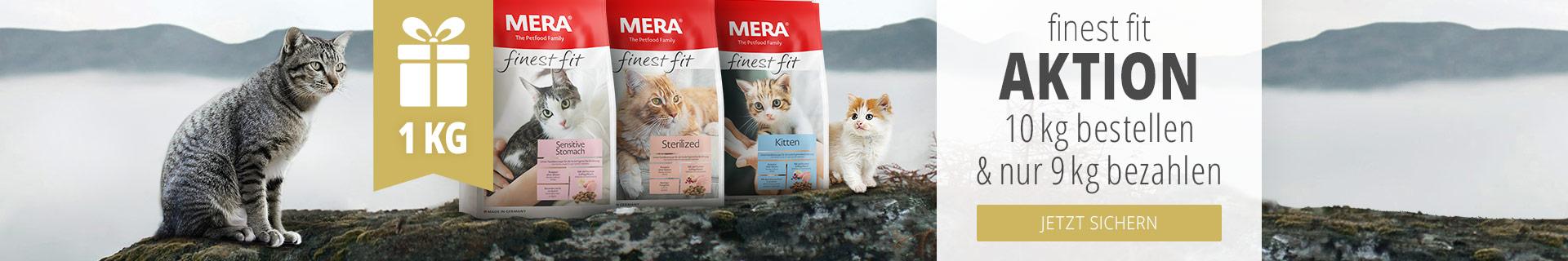 Mera Trockenfutter Aktion für Katzen - 10kg zum Preis von 9kg