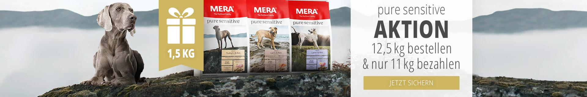 Mera Trockenfutter Aktion für Hunde - 12,5kg zum Preis von 11kg