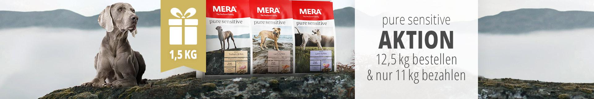 Mera Pure Sensitive Trockenfutter Aktion - 1,5kg geschenkt