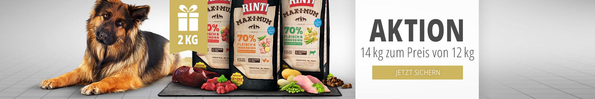 Rinti Trockenfutter Aktion - 14kg zum Preis von 12kg
