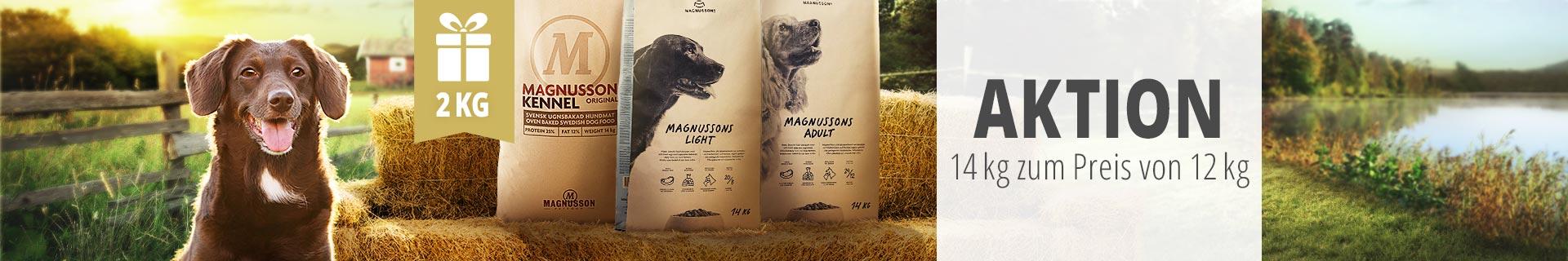 Magnusson Trockenfutter Aktion - 14kg zum Preis von 12kg
