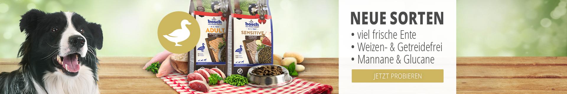 Bosch - neue Trockenfutter Sorten